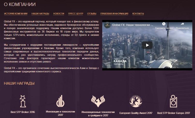 о компании Глобал ФХ